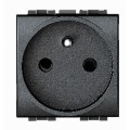 Prise de courant 2p+T Standard Living Light Bticino Anthracite - Connexion auto - 2 modules