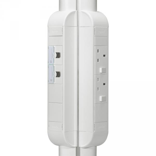 legrand 031066 bloc colonne quiper 8 modules l 325 mm blanc. Black Bedroom Furniture Sets. Home Design Ideas