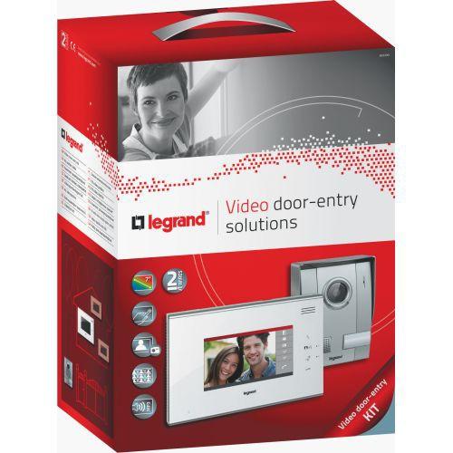 Legrand 369300 Kit portier Video 7 pouces 2 fils blanc tactile ...