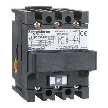 Schneider electric ls1d2531a65 corps de sectionneur fusible ls1 3p 25 a pour fusible nfc 10 x 38 mm - Sectionneur porte fusible telemecanique ...
